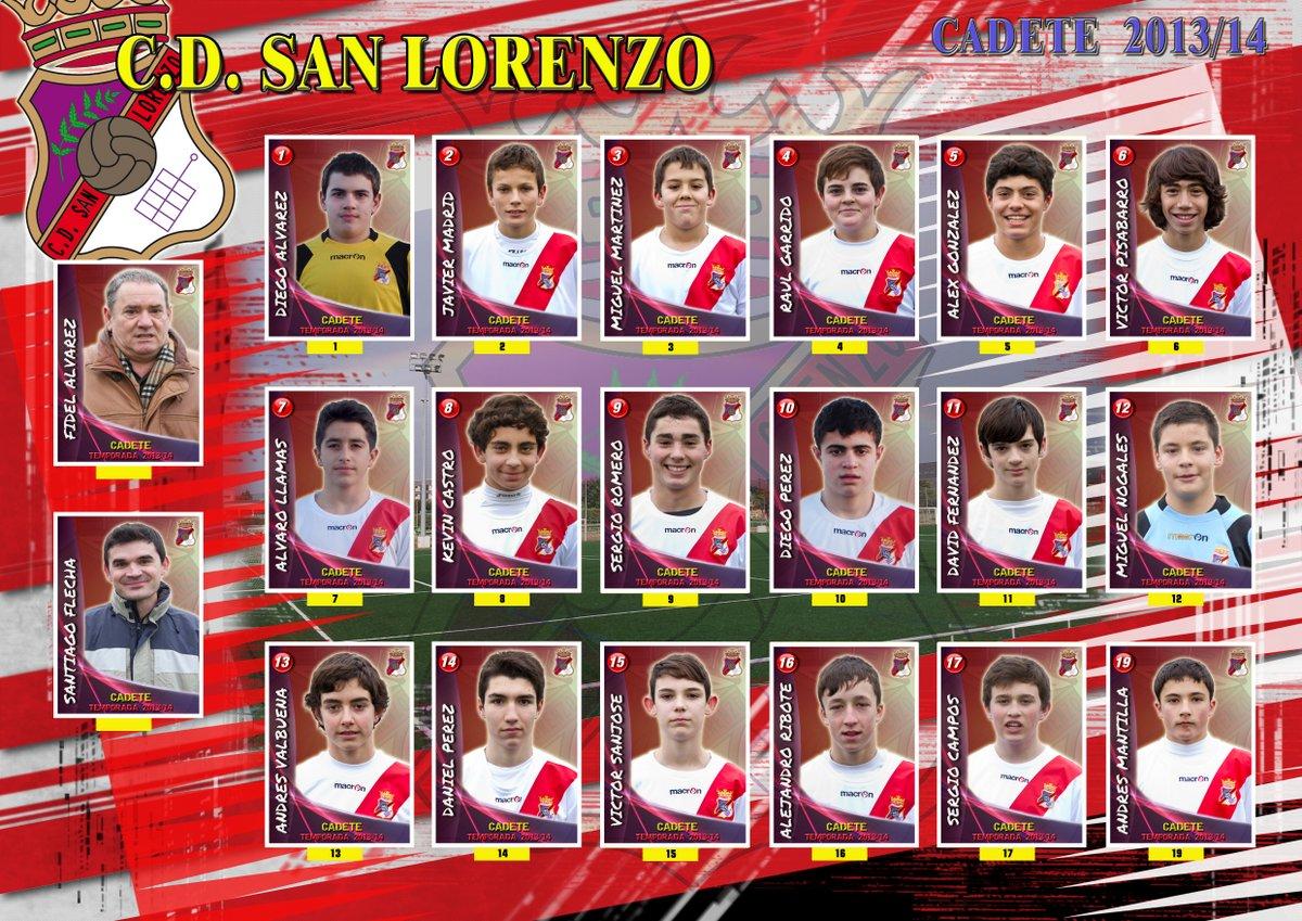 Plantilla equipo Cadete 2013/14