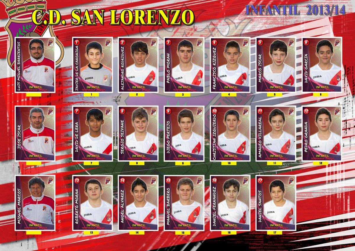 Plantilla equipo Infantil 2013/14