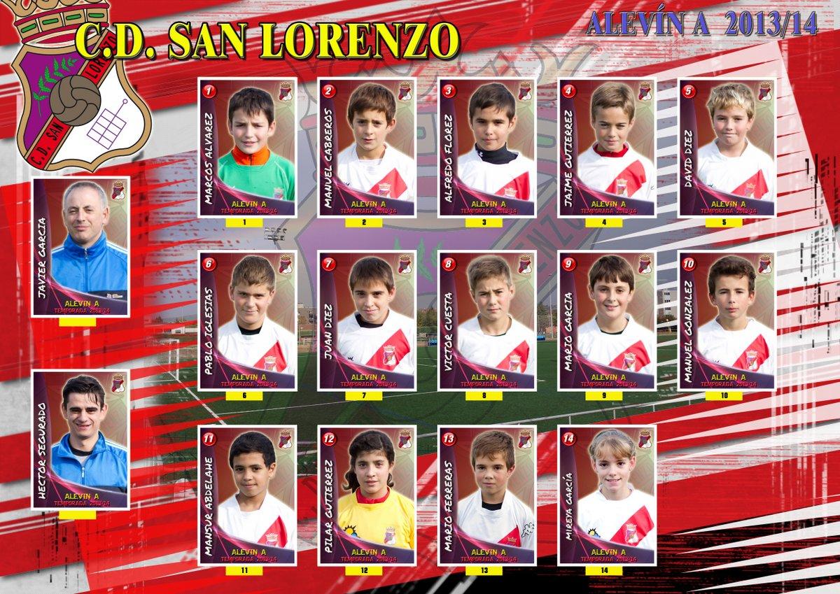 Plantilla equipo Alevin A 2013/14