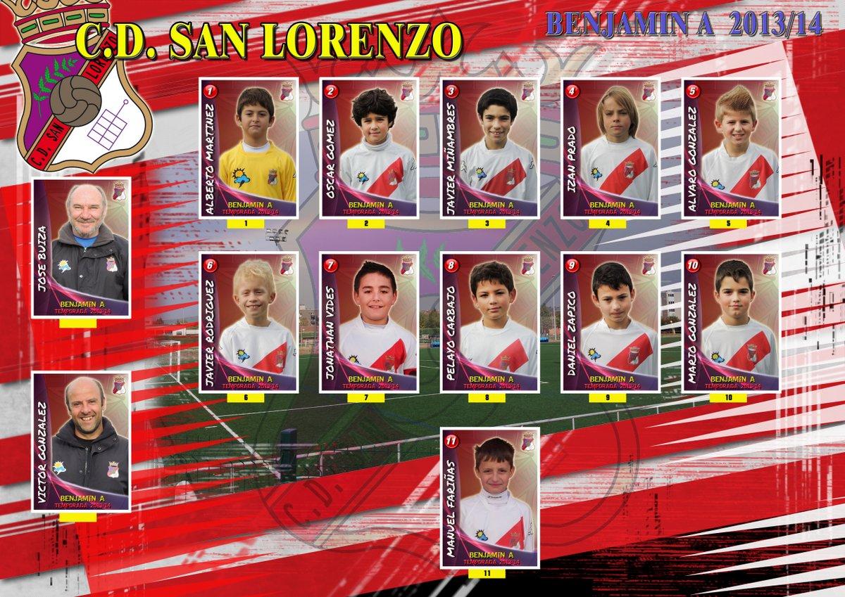 Plantilla equipo Benjamin A 2013/14
