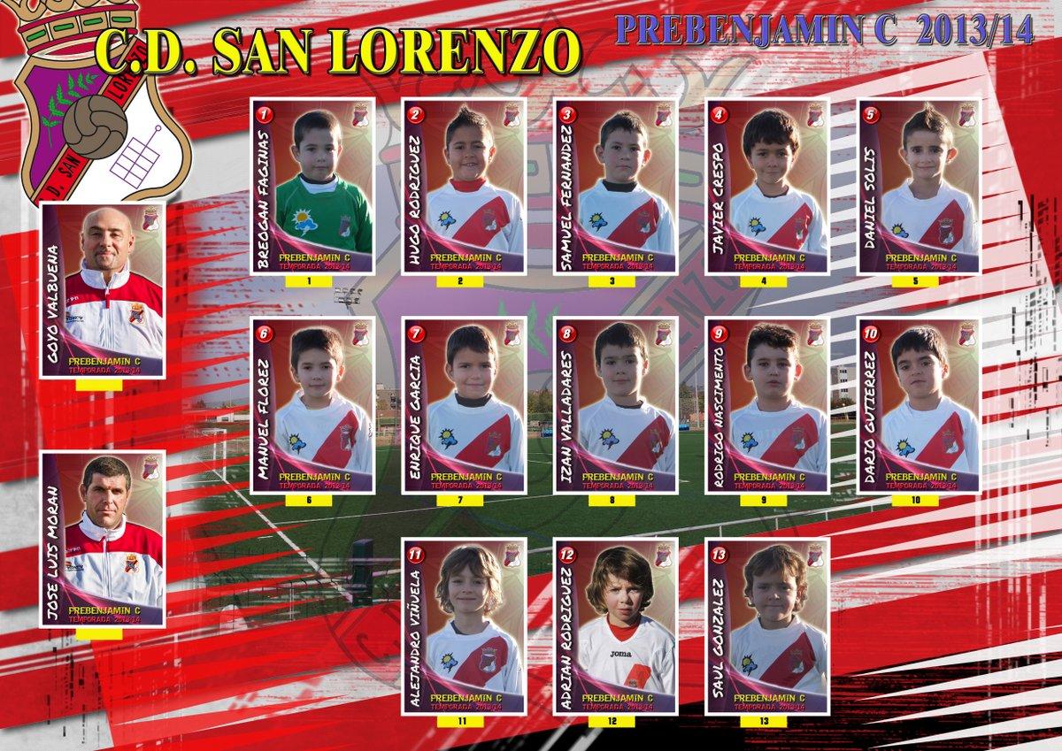Plantilla equipo Prebenjamin C 2013/14