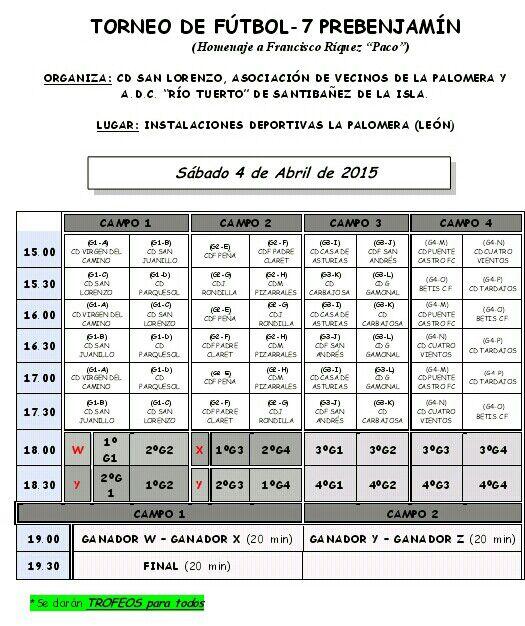 Torneo Prebenjamin Futbol 7